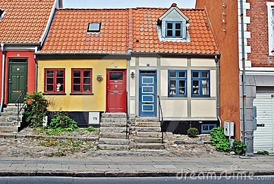 Colorful houses in Denmark