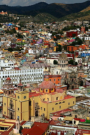 Colorful houses in Guanajuato