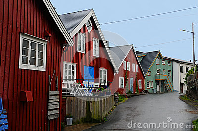 Colorful houses  in Henningsvaer