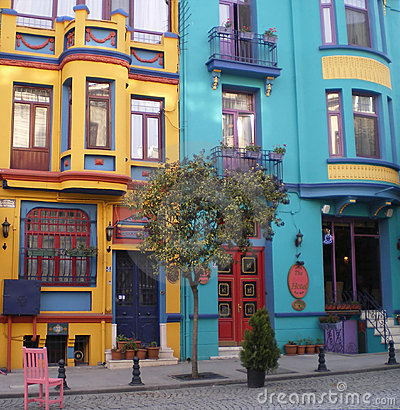 Free Colorful Houses, Istanbul. Royalty Free Stock Photos - 4661278