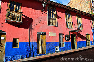 Colorful houses, La Candelaria, Bogota