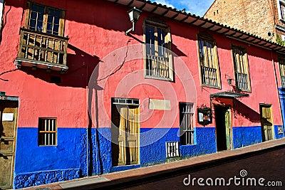 Colorful houses, La Candelaria, Bogota
