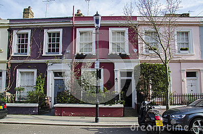 Notting hill houses Editorial Stock Photo