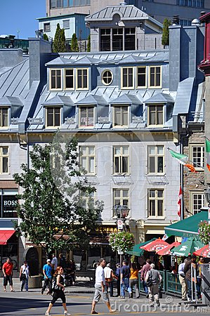 Colorful Houses in Old Quebec City Editorial Image