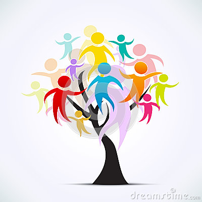 Tree with people