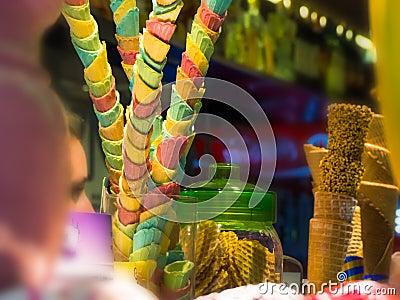 Colorful ice cream cone