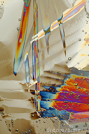 Colorful ice crystals