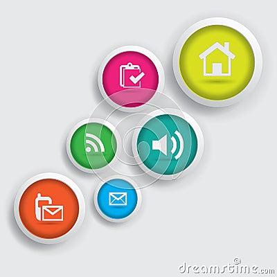 Colorful icon button