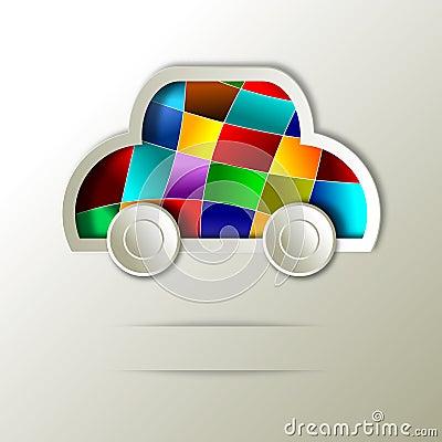 Car. Abstract icon design