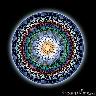 Colorful Indian Lotus Mandala Design