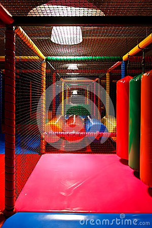 Colorful indoor playground Stock Photo