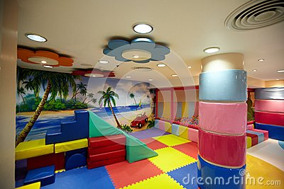 Colorful indoor playground Stock Photo