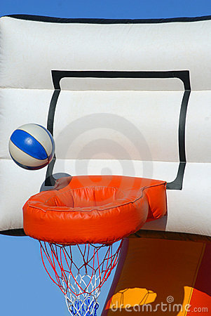 Free Colorful Inflatable Basketball Toy Royalty Free Stock Image - 14159116