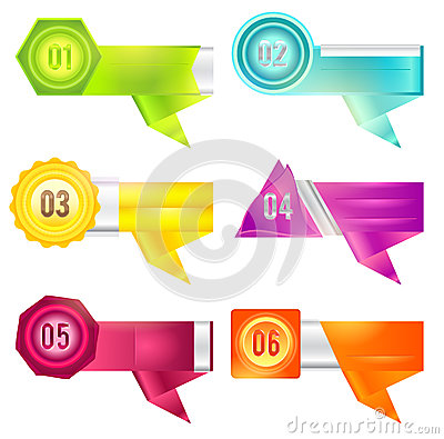 Colorful infographic banner in various design (vec
