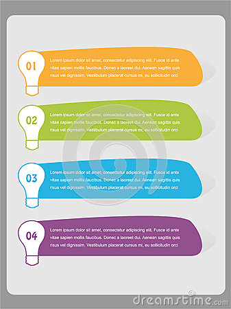 Numbered Infographics List Design. Stock Photos - Image: 32613333