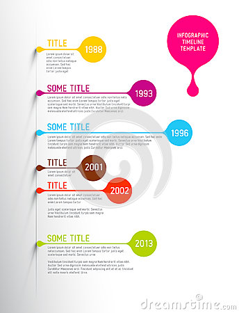 Free Colorful Infographic Timeline Report Template With Bubbles Stock Photo - 42038790