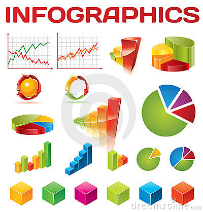 Colorful infographic vector collection