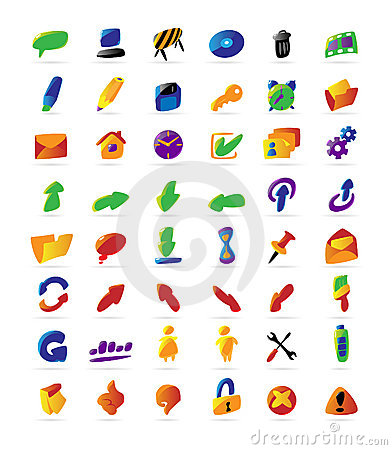 Colorful interface icons