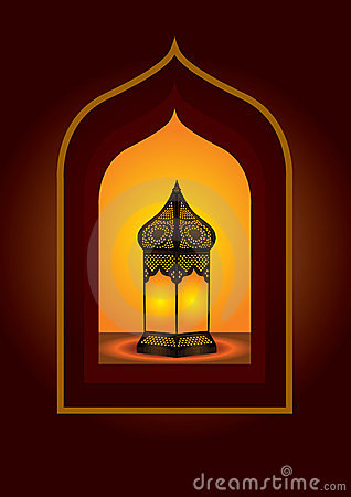 Colorful intricate arabic lantern