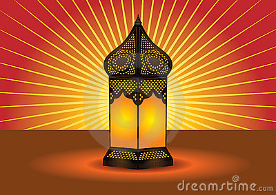 Colorful intricate islamic floor lamp
