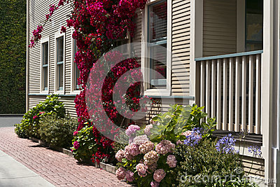 Colorful, inviting driveway