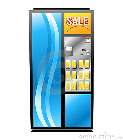 Colorful Isolated Vending Machine