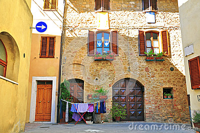 Colorful italian patio