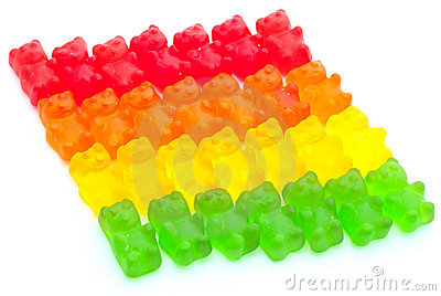 Colorful jelly bears Editorial Photo
