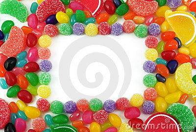 Colorful Jelly Candy Framed Background