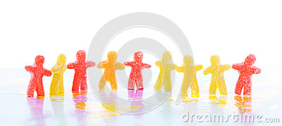 Colorful jelly people