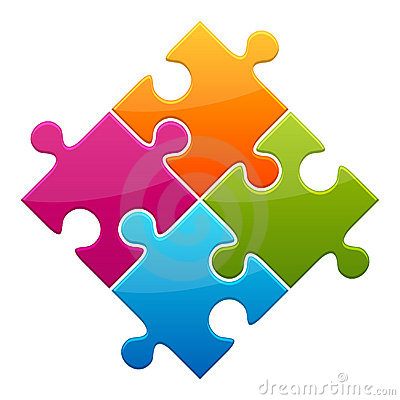 Colorful jigsaw