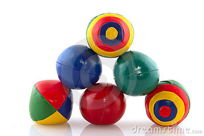Colorful juggle balls