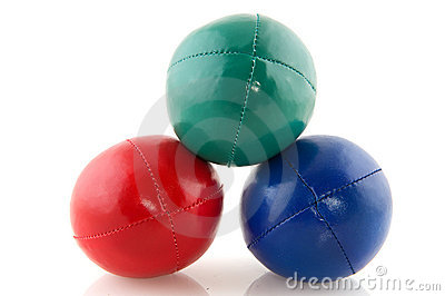 Colorful juggle balls