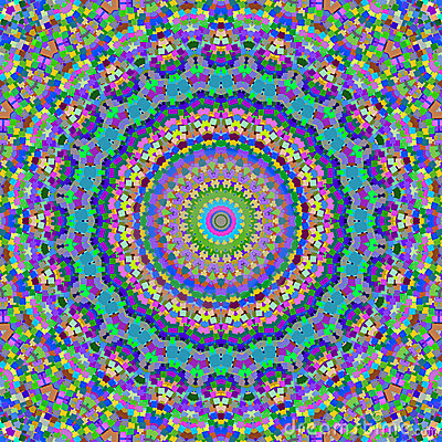 Colorful kaleidoscope squares