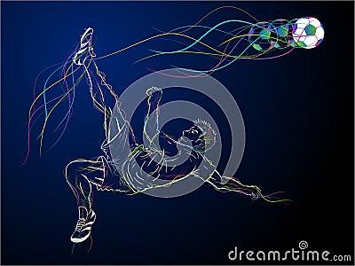 Colorful kick sketch