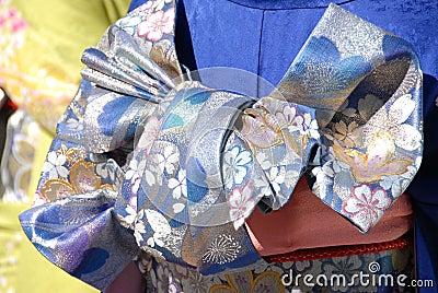 Colorful kimono fabric