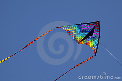 Colorful Kite flying