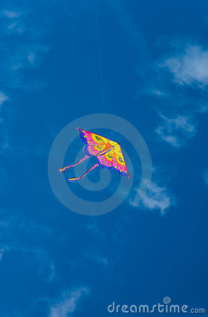 Free Colorful Kite In Blue Sky Royalty Free Stock Images - 16335059