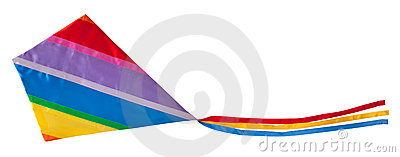 Colorful kite isolated