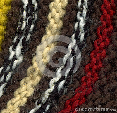 Colorful knitted sweater texture