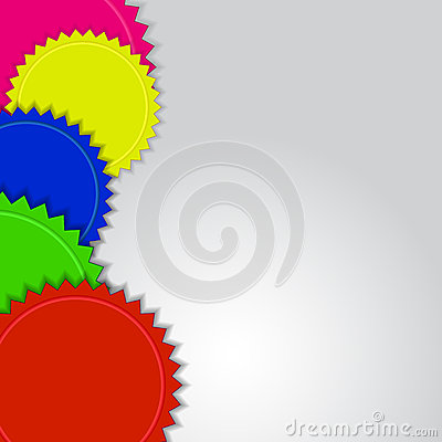 Colorful labels background