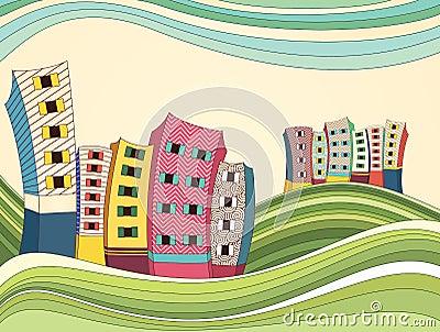 Colorful Landscape Vector Illustration