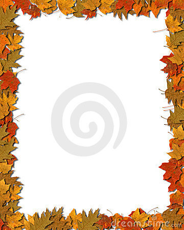 Free Colorful Leaf Border 2 Royalty Free Stock Image - 3386726