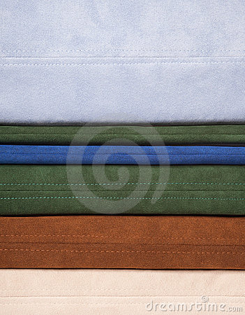 Colorful leather texture sewing -