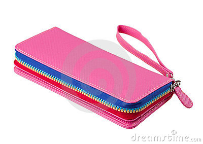 Colorful leather woman wallet