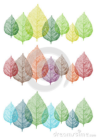 Free Colorful Leaves, Vector Set Royalty Free Stock Image - 33652206