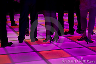 Colorful led dance floor