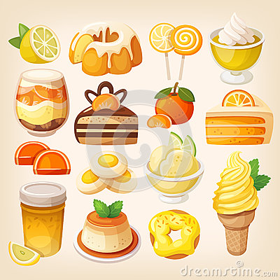 Free Colorful Lemon And Orange Desserts Royalty Free Stock Photos - 68027858