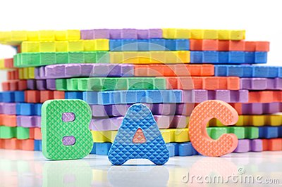 Colorful letter mat