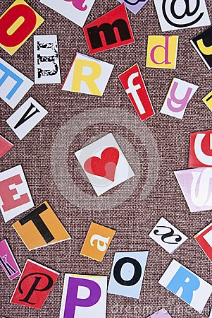 Free Colorful Letters And Heart Royalty Free Stock Photography - 104792377